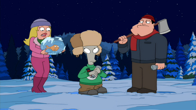 the most adequate christmas ever season 4 episode 8 plot after stan comes home from another dangerous mission he finds that his family has decked the - American Dad Christmas Episode