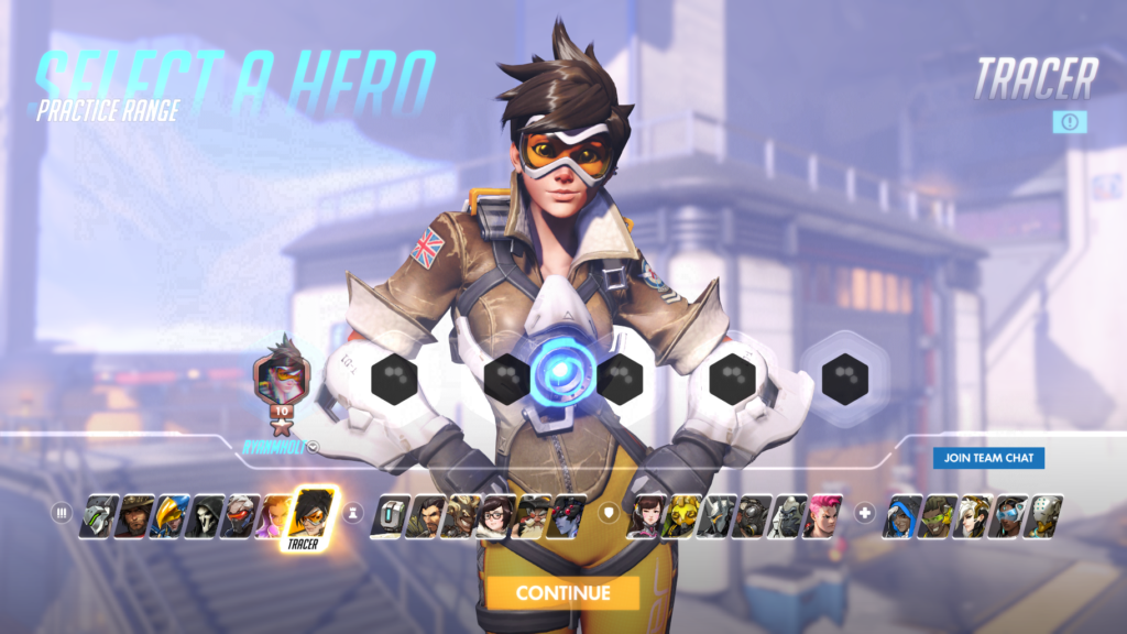 Overwatch eSports - Character Select