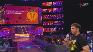 Drew Gulak debuts a new PowerPoint on 205 Live. (PHOTO: WWE)