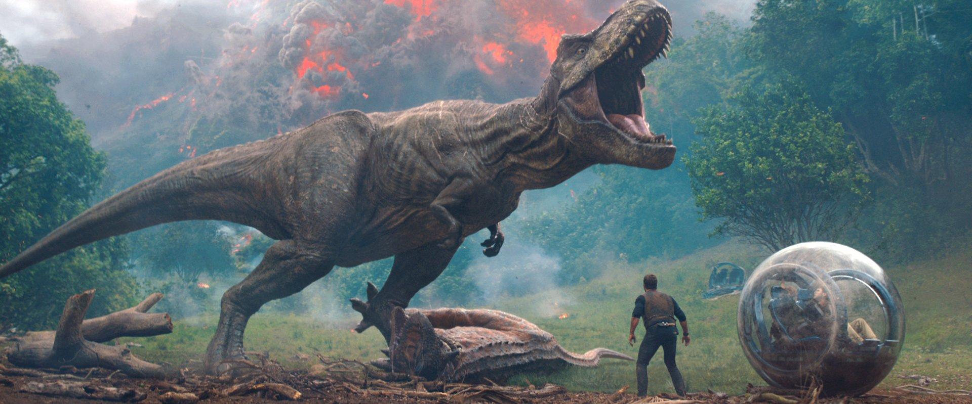 Still of T. Rex in Jurassic World: Fallen Kingdom