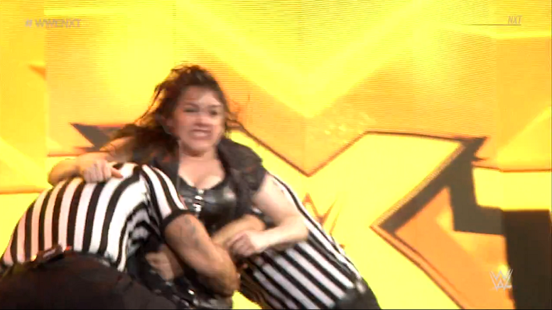WWE NXT's Nikki Cross launches herself at the Undisputed Era