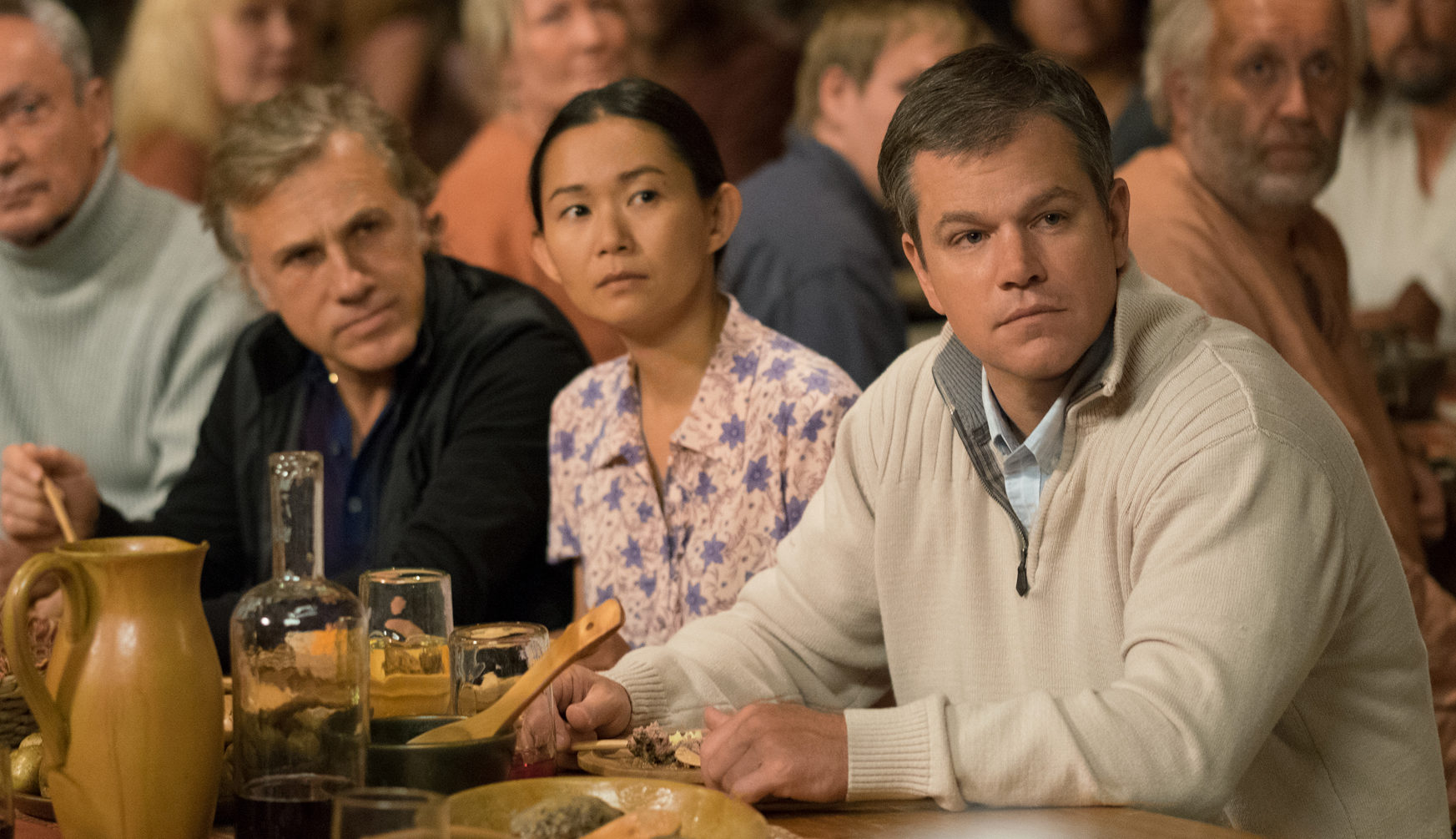 "Photo of Christoph Waltz, Hong Chau, and Matt Damon in ""Downsizing"" - 2017"