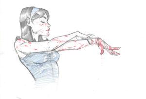 Sketch by Joëlle Jones