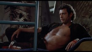 "Still of Jeff Goldblum as Ian Malcolm in ""Jurassic Park"""