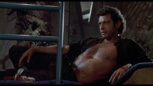 """Still of Jeff Goldblum as Ian Malcolm in """"Jurassic Park"""""""