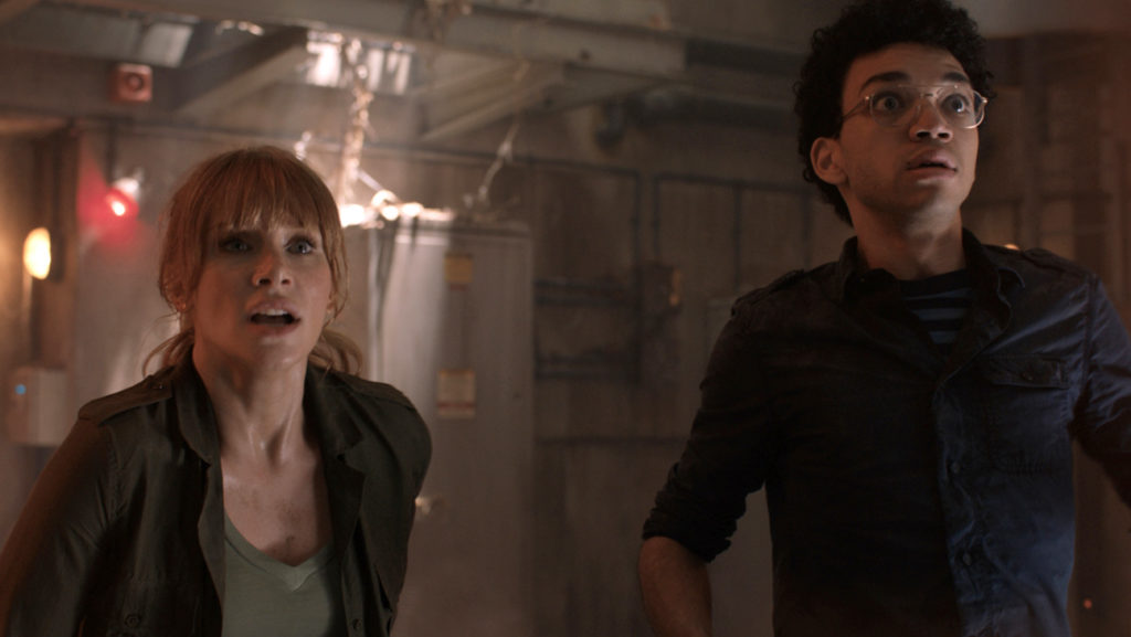 Still of Bryce Dallas Howard and Justice Smith in Jurassic World: Fallen Kingdom, 2018
