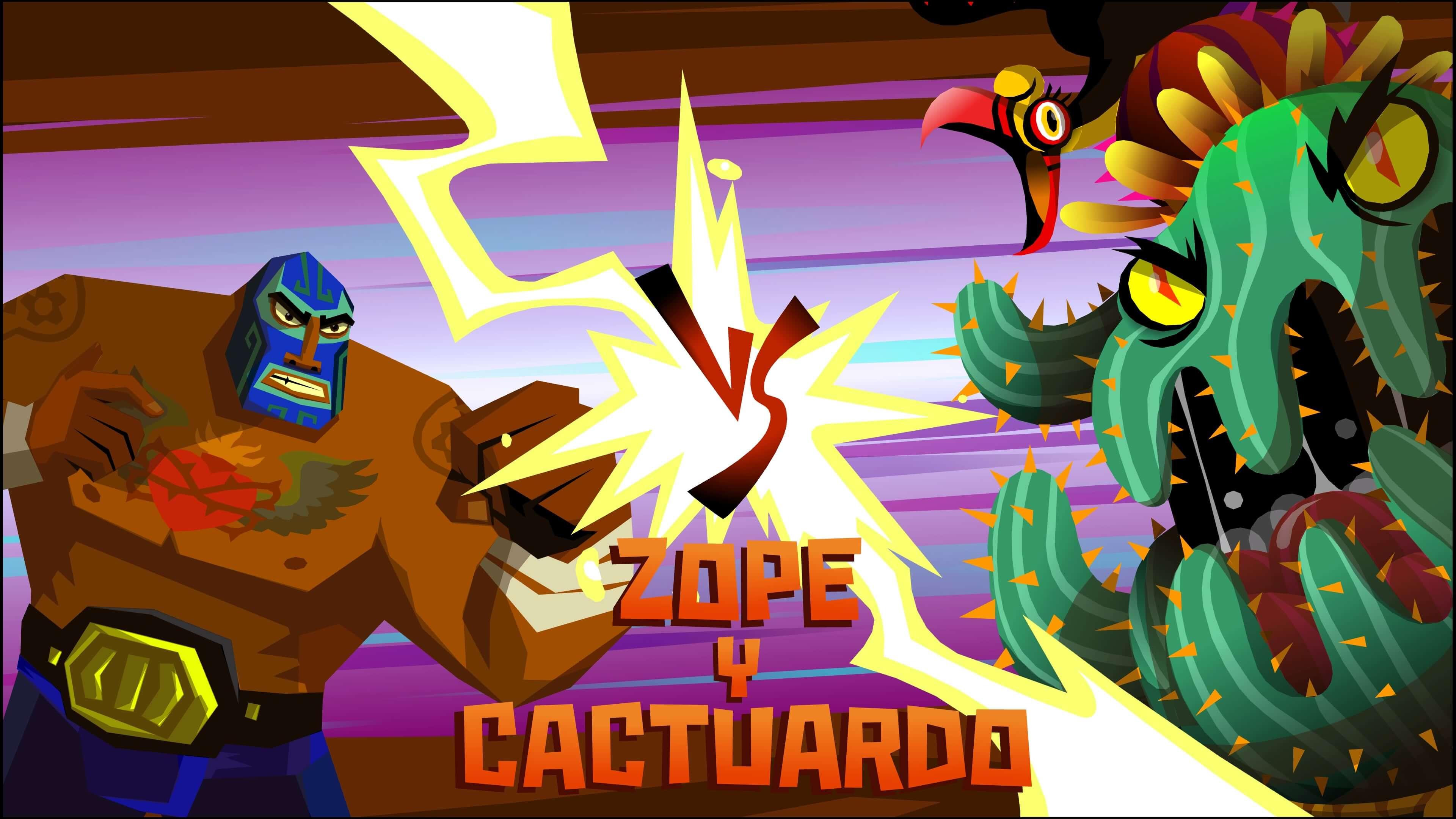 Guacamelee! 2 Zope y Cactuardo cactus boss