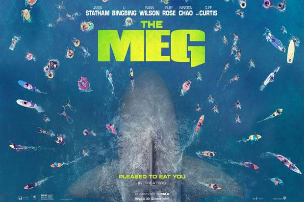 Poster for the sci-fi/action-adventure film The Meg (2018)