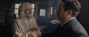 Still of Brontis Jodorowsky and Dan Folger in Fantastic Beasts: the Crimes of Grindelwald