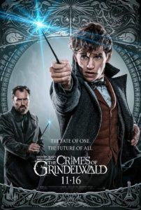 Poster from the film Fantastic Beasts: the Crimes of Grindelwald (2018)