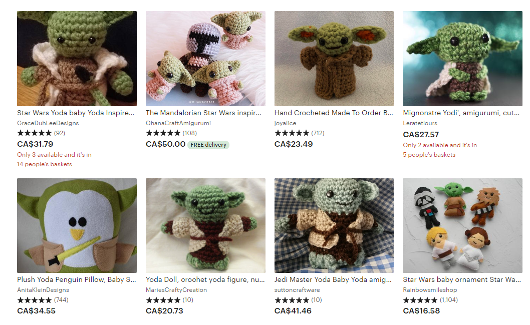 Crocheted Baby Yoda Brings Our New Favorite 'Star Wars' Character ... | 649x1058