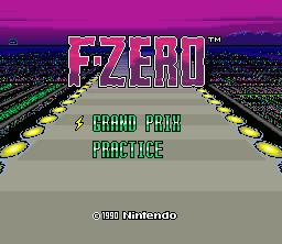 F-Zero Title Screen